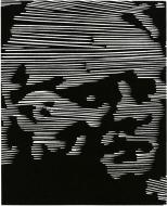 Richard M. Ash III (born 1943): Self Portrait, 2009; relief; image: 5 1/2 x 4 1/2 inches