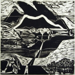 Thomas Seawell (born 1936); Yukon, nd; woodcut; image: 16 x 16 inches