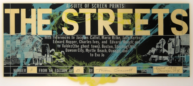 The Streets, 1975; Screen print; Image: 5 1/2 x 14 inches