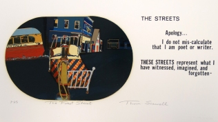 The First Street, 1975; Screen print; Image: 5 1/2 x 14 inches