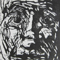 Constance, 2011; Woodcut; Image: 8 x 8 inches