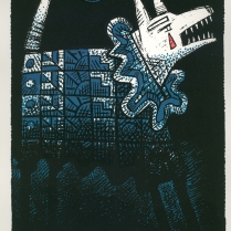 Clown Dog Blues, 1999; Screen print; Image: 265x195 mm