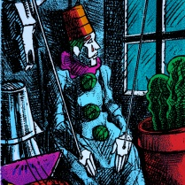 Puppet Clown, 1997; Screen print; Image: 260x205 mm
