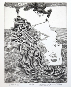 Dream III, 1994; Engraving; Image: 451 mm x 591 mm