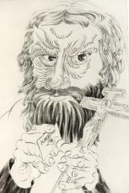History Lesson: Rasputin, 1996; Engraving; Image: 451 mm x 591 mm