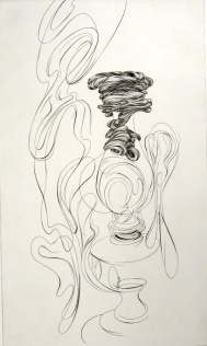 The Lamp II, 1973; Engraving; Image: 451 mm x 591 mm