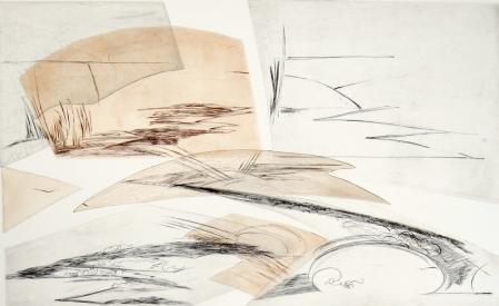 Landscape I , 1980; Engraving; Image: 451 mm x 591 mm