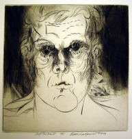 Self Portrait , 1979; Engraving; Image: 451 mm x 591 mm