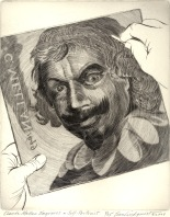 Claude Mellan Engraves a Self Portrait, 2008; Engraving; Image: 451 mm x 591 mm