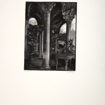 Margaret Craig; Bad Birds: Gryphon, 1996; Photo etching ; Image: 247 mm x 182 mm