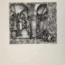 Margaret Craig; Bad Birds: Return to Messenger, 1996; Photo etching; Image: 236 mm x 276 mm