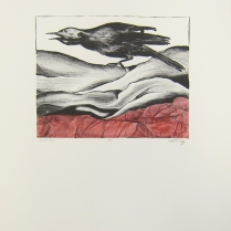 Margaret Craig; Bad Birds: Godzilla, 1996; Photo etching; Image: 202 mm x 250 mm
