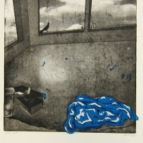 Margaret Craig; Bad Birds: Blanket, 1996; Photo etching; Image: 398 mm x 348 mm