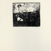 Margaret Craig; Bad Birds: Pigeon Flowers, 1996; Photo etching; Image: 181 mm x 202 mm