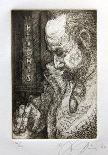 Luis Jimenez; Portrait of Gus Kopriva, 2000; Etching; Image: 226 mm x 149 mm