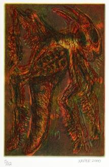Frank Tolbert 2; Grasshopper, 2000; Etching; Image: 225 mm x 148 mm