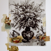 Untitled, 2010; Photogravure, collage; Image: 451 mm x 591 mm