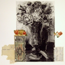 P. D.'s Dilemma, 2010; Photogravure, collage; Image: 451 mm x 591 mm