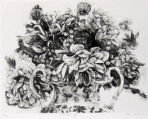 Pricked Off, 2003; Intaglio; Image: 370 mm x 310 mm
