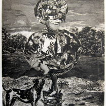Girls n' Dog, 1996; Intaglio; Image: 355 mm x 278 mm