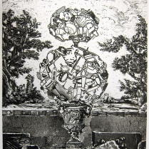 Girl Topiary, 1996; Intaglio; Image: 355 mm x 278 mm