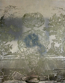 Matrix for Girl Topiary, 1996; Zinc plate; 384 mm x 300 mm