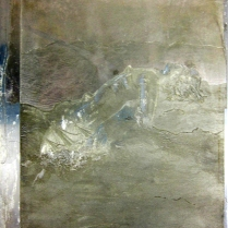Matrix for La Canción Desesperada, 1996; Zinc plate; 370 mm x 310 mm