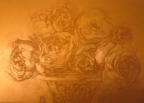 Matrix for Dark Talk, 2010; Photopolymer plate; 208 mm x 282 mm