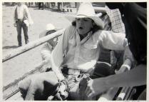 Bareback Riding, In Chute, 1985; Gelatin silver print; Image: 305 x 406 mm