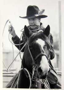 Brad Grable, Calf Roper, 1985; Gelatin silver print; Image: 406 x 305 mm