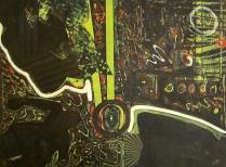 Clinton Cline; Delilah, 1968; Viscosity intaglio; Image: 598 mm x 447 mm