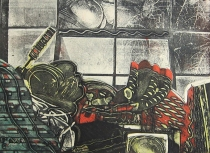 Clinton Cline; Window View, 1972; Viscosity intaglio; Image: 605 mm x 446 mm