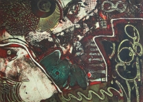 Clinton Cline; Mary Ann, 1968; Viscosity intaglio; Image: 453 mm x 324 mm