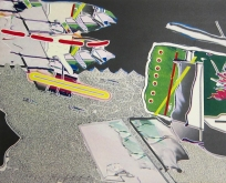 Clinton Cline; Running 510, 2001; Lithograph; Image: 509 mm x 406 mm