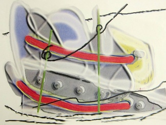 Clinton Cline; Soft as it go's, 1998; Lithograph; Image: 510 mm x 390 mm