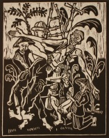 Don R. Schol; Vietnam Sacrifice from Vietnam Remembrances, 2009; wood relief print; 14x11 inches