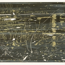 Arno Current, 2014; Woodcut; Paper: 31 1/2 x 48 inches