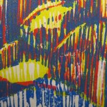 E. 6th Street (Daniel Smith Mediterranean Blue), detail 3; Woodcut