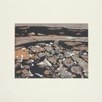 Giant Spring, 2013; Woodcut; Paper: 22 1/2 x 31 inches