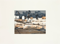 Pierre Road, 2012; Woodcut; Paper: 22 1/2 x 31 inches
