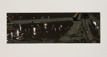Tiber Crossing, 2013; Woodcut; Paper: 22 1/2 x 42 inches