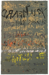 Heard But Not Said, 2008; Screenprint; Image: 980 x 623 mm