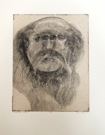 Wilber, 2009; Intaglio, chine colle; Image: 503 x 393 Cruel rumors abound concerning Wilber: that he lives in a cave and eats bats and mice.