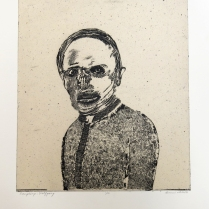 Wolfgang, 2010; Intaglio, chine colle; Image: 508 x 413 For the men under his command, Wolfgang was a tyrannical figure.