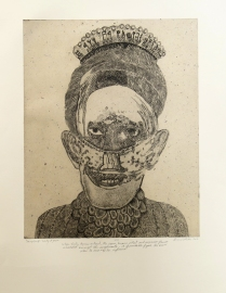Lady Agnes, ND; Intaglio, chine colle; Image: 508 x 406 When Lady Agnes entered, the room became silent and numerous glances ricocheted amongst the supplicants. A formidable figure, she knew when to exercise her influence.