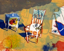 Red Dog, Blue Dog, 2012; Archival inkjet, lithograph; Image: 330 mm x 420 mm