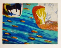 Return to Lost Island, 2013; Lithograph; Image: 311 mm x 433 mm