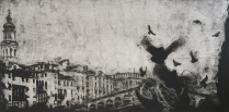 Rialto; Pigeons, 2002; Mezzotint; Object size: 77 1/2 x 42 inches