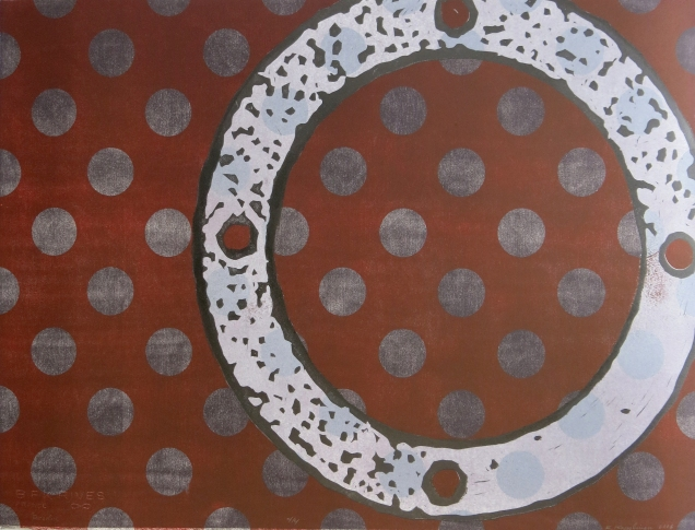 Resolve, 2006; Woodcut; Object size: 22 x 30 inches