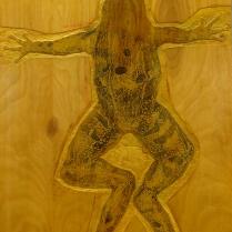 Untitled, 1997; Woodcut matrix; Object size: 48 x 24 inches
